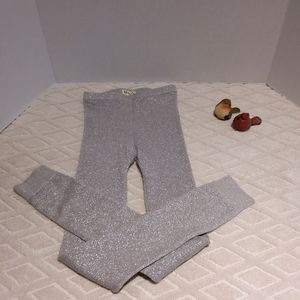 Hatley silver sparkly knit leggings